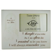Photo Frame Mum in Loving Memory I Thought of You Today Wood Cream 4x6 F1030A
