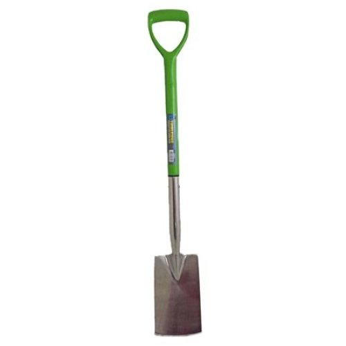 Toolzone Stainless Steel Border Spade - S -  toolzone s steel border spade