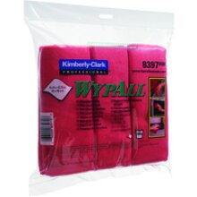 WypAll MICROFIBRE CLOTHS RED 8397 PK6