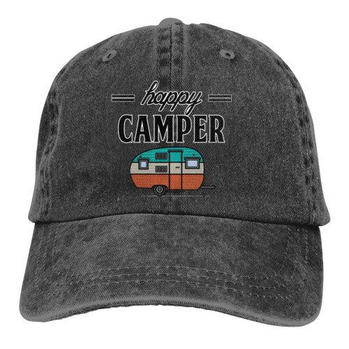 Happy Camper Denim Baseball Caps