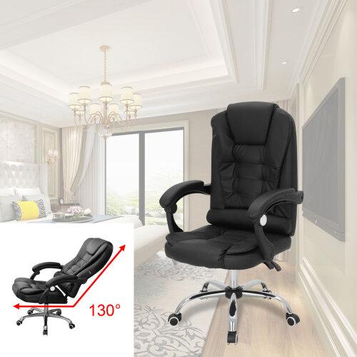 3 Massage Modes Adjustable Office Chair Ergonomic Racing Gaming Swivel