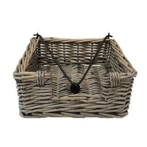 Antique Wash Wicker Napkin Holder