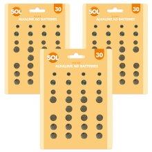 90 x Assorted Button Cell Batteries   Alkaline Watch Batteries