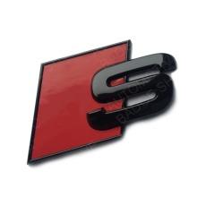 Audi Gloss Black S Badge Boot Side Wing Fender Badge Emblem For A1 S1 A3 S3 RS3 A4 S4 RS4 A5 S5 RS5 A6 S6 RS6 A7 S7 RS7 A8 S8 RS8 Q2 Q3 Q5 Q7 Q8 TT R8