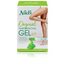 Nad's Wax Kit Gel - Wax Hair Removal For Women - Body+Face Wax - All Skin Types - At Home Waxing Kit With 6 Oz Wax Gel, Cleansing Wipes, Wooden Spatul