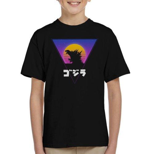 Retro King 80s Godzilla Retro Triangle Kid's T-Shirt