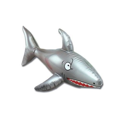 """24"""" Inflatable Shark Decoration - Party Pool Pirate 90cm Blow Up Beach Fancy -  inflatable shark party pool pirate 90cm blow up beach fancy dress"""
