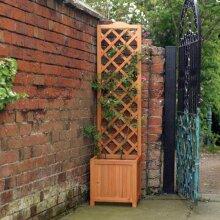 160cm Tall Wooden 40cm x 40cm Square Trellis Garden Planter