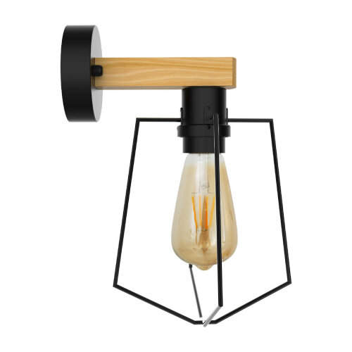 Wall Light Antique Wall Mounted wood Sconce Lighting E27 Fixture