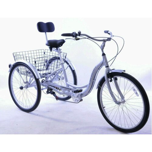 """Free&Easy Adults 26"""" Wheel 3 Wheel Disability Tricycle Lightweight"""
