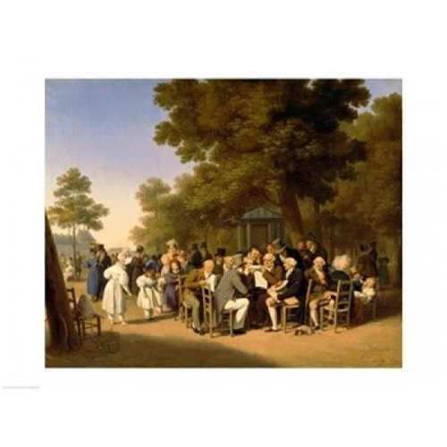 Politicians in The Tuileries Gardens 1832 Poster Print by Louis-Leopold Boilly - 36 x 24 in. - Large