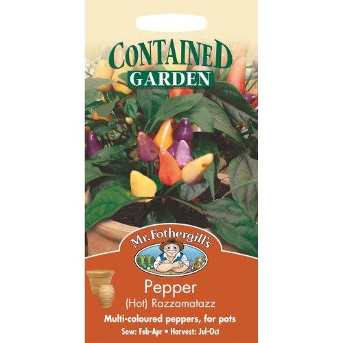 Mr Fothergills - Pictorial Packet - Vegetable - Hot Pepper Razzamatazz - 50 Seeds
