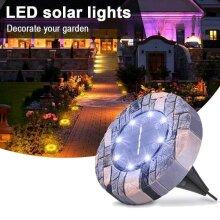 8 LED Solar Power Ground Lights Floor Decking Outdoor Garden Lawn Path Lamp UK