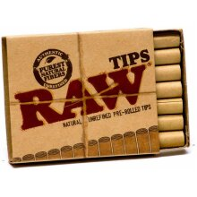 RAW Tip Natural Unrefined Pre-Rolled Tips