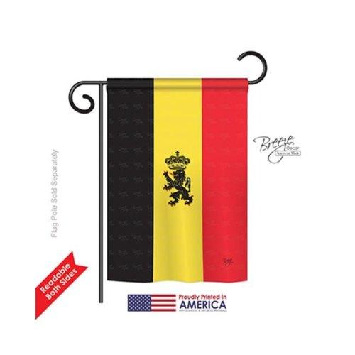 Breeze Decor 58098 Belgium 2-Sided Impression Garden Flag - 13 x 18.5 in.