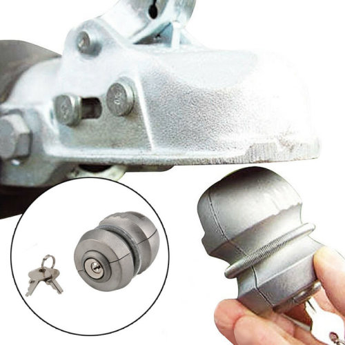 Tow lock bar security Coupling universal Hitch tow ball lock spherical