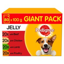 Pedigree Dog Pouches Mixed Selection In Jelly 80 x 100g Mega Pack