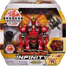 Bakugan 6058342 - Dragonoid Infinity Transforming Figure with Exclusive Fused Bakugan Ultra and 10 Baku-Gear Accessories