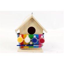 The Home Fusion Company Kids' Paint Your Own Bird House Kit – 12x14cm