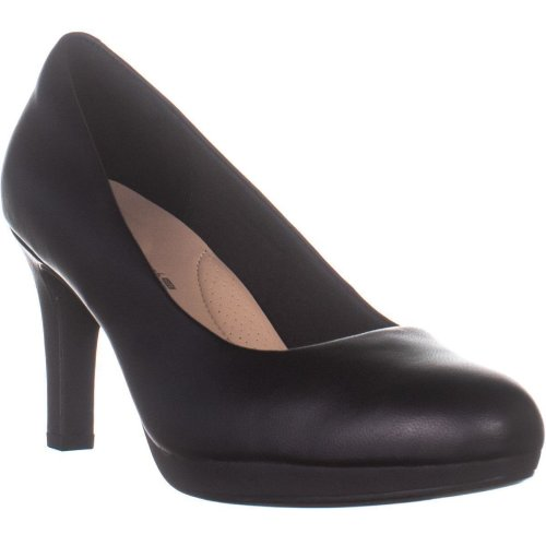 Clarks Adriel Viola Comfort Platform Pumps, Black, 7 UK