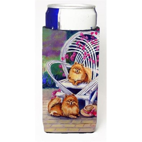 Red Pomeranians Michelob Ultra bottle sleeves For Slim Cans - 12 oz.