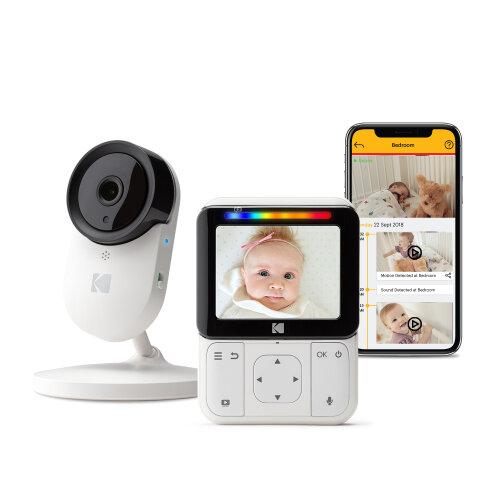 "KODAK Cherish C220 Video Baby Monitor - 2.8"" HD Screen & Mobile App"