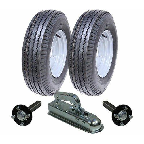 High speed trailer kit 5.00-10 wheels + hub & stub axle + hitch