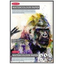 Derwent A5 Watercolour Paper Pad,Multicolor, 12 Sheets