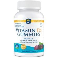 Nordic Naturals  Vitamin D3 Gummies, 1000 IU, Wild Berry, 60 gummies