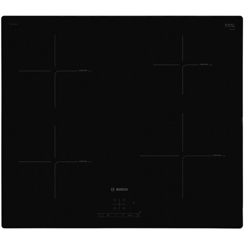 Bosch PUE611BF1B Serie 4 59cm 4 Burners Induction Hob Touch Control Black