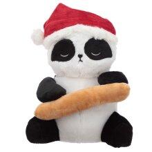 Fun Christmas Pandarama Plush Door Stop