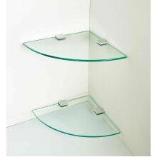 2 x Glass Corner Shelves, Bathroom Shelves, Kitchen shelves, Storage⭐⭐⭐⭐⭐