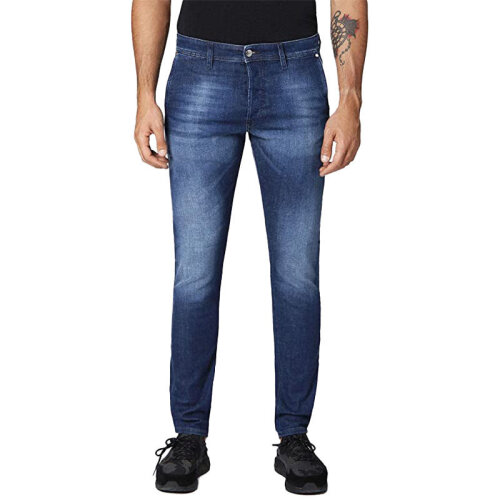 (W33 L32) DIESEL KAKEE 084MW Mens Denim Jeans Slim Carrot Blue