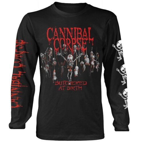 Cannibal Corpse 'Butchered At Birth Babies' (Black) Long Sleeve Shirt