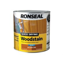 Ronseal 36947 Woodstain Quick Dry Satin Natural Oak 2.5 Litre