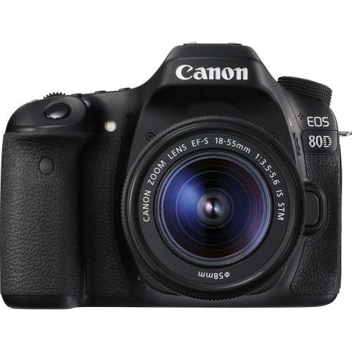CANON EOS 80D DSLR Camera with 18-55 mm f/3.5-5.6 IS STM Zoom Lens - Black, Black