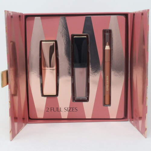 Estee Lauder High Roller Nudes Lips 3-Pcs Set  / New With Box