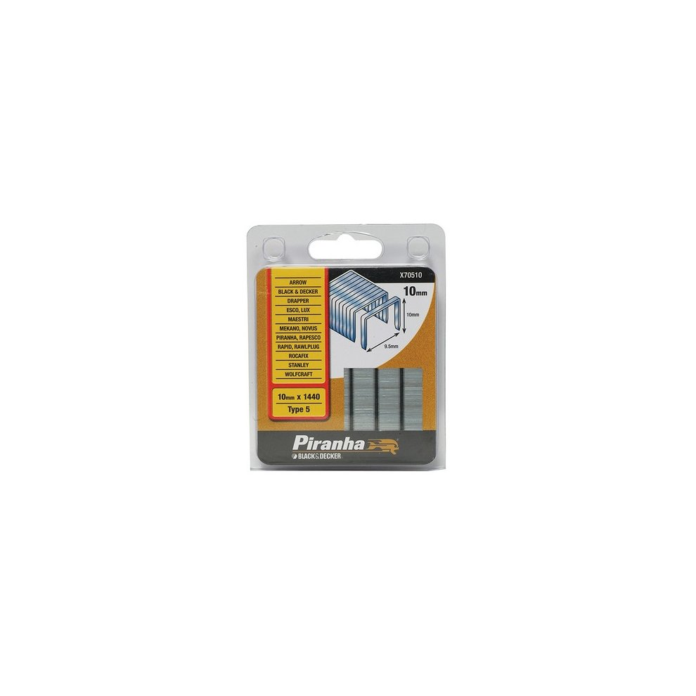 X70510 Flat Wire Staples 10 mm Pack 1440 B//DX70510