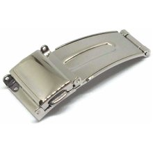 Watch Strap Clasp 3 Fold Sprung Release Stainless Steel