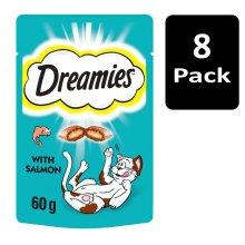 DREAMIES Cat Treats With Salmon 8x60g