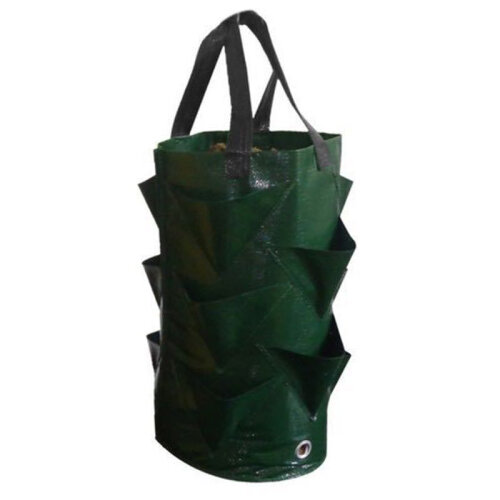 (Green) Plant Cultivation Bag Hanging Planter Strawberry Tomato Pouch