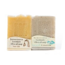 BENESSERE-Hair and Face care set (Organic Olive Oil-Mineral Mud)