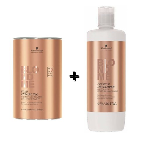 Schwarzkopf Blond me 9+ Powder 450g + 9% Developer 1L