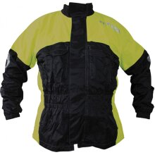 Richa Rain Warrior Over Jacket Black / Fluo Yellow - L