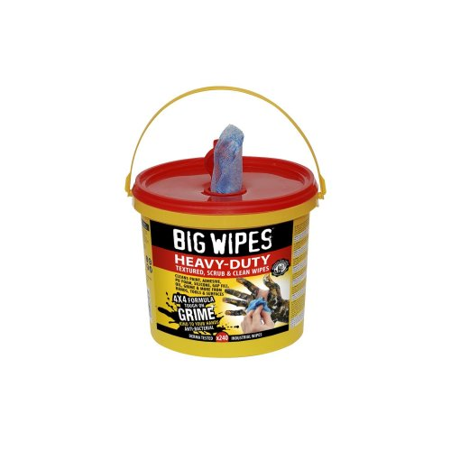 Big Wipes 2427 4 x 4-inch Heavy Duty Cleaning Wipes (Pack of 240)