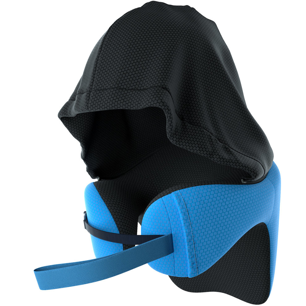 LANGRIA 6IN1 Hooded Travel Pillow