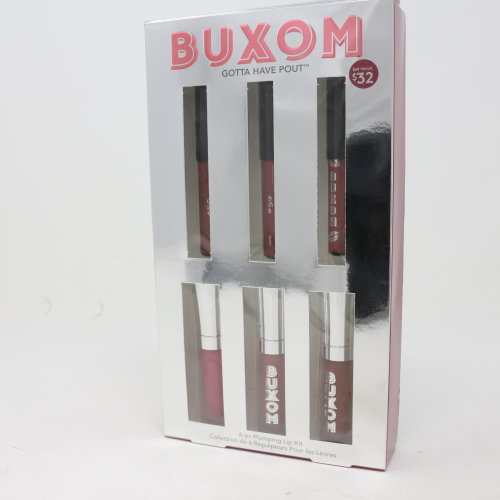 Buxom Gotta Have Pout 6-Pc Plumping Lip Kit  / New With Box