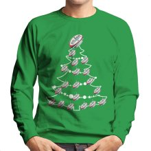 Rugby Union Ball Christmas Tree Baubles Men's Sweatshirt