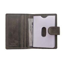 Primehide Mens Leather Credit Card Holder Wallet - RFID Blocking - Ridgeback Collection - 6402