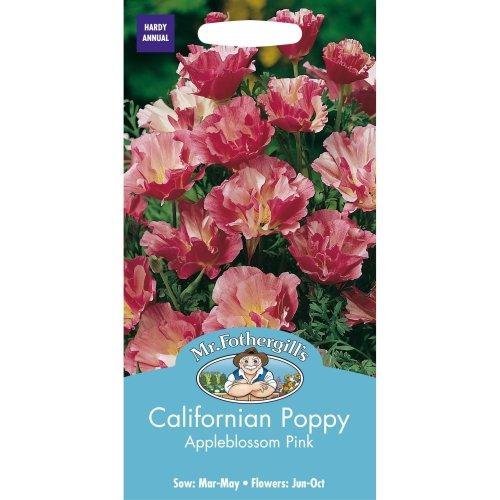 Mr Fothergills - Pictorial Packet - Flower - Californian Poppy Appleblossom Pink - 200 Seeds